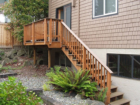 Built new deck and stairs.