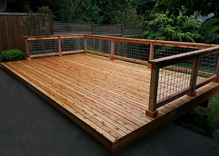 Built new deck.