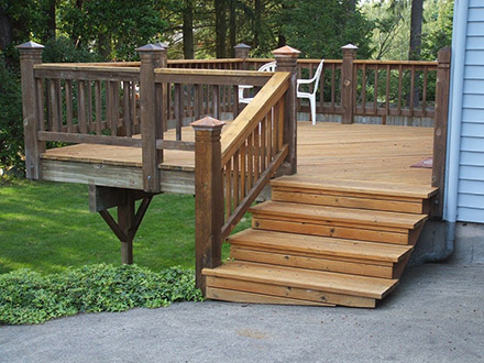 Refurbished old deck and added stairs.