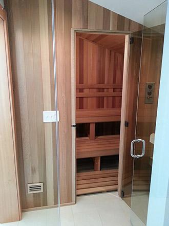 Installed sauna.